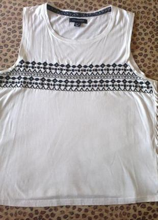 Atmosphere. майка/футболка с бахромой, хлопок с вискозой, р.48-50