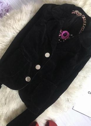 Нарядный вечерний пиджак блейзер бархатный велюровый