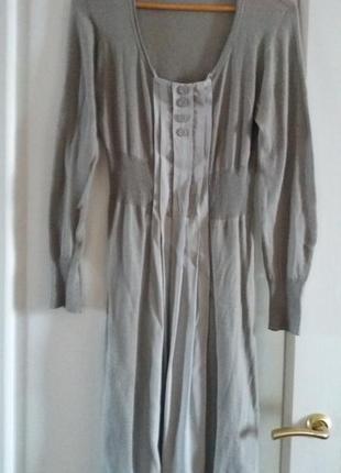 Шикарное мягенькое серое трикотажное брендовое платье sita murt  испания размер m/46.