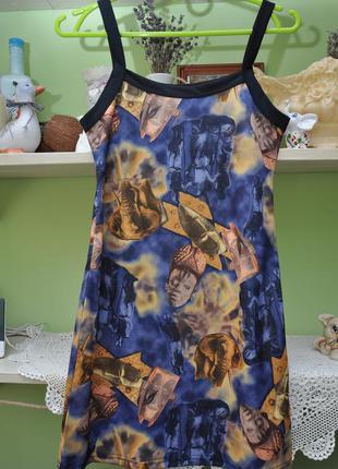 Красивый подростковый сарафан-платье. 152см