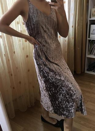 Платье миди праздничное