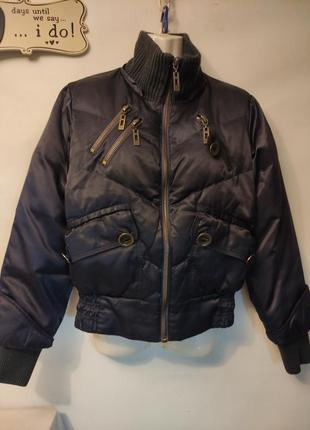 Теплый фирменный пуховик куртка 70% пуха
