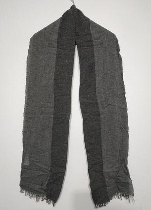 Сост нов c&a вискоза шерсть шарф мужской женский серый тонкий zxc lkj