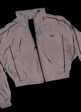 Курточка bershka ветровка рефлективная светоотражающая куртка