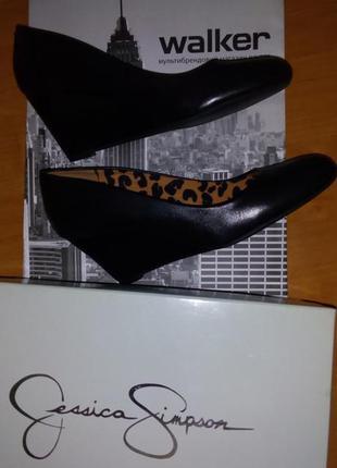 Черные туфли на танкетке р. 37-37,5
