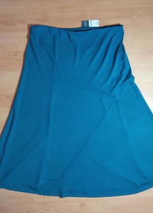 Шикарная бирюзовая юбка из вискозы