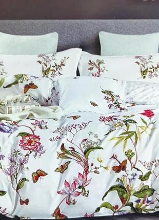 Комплект постельного белья 200*230 см (сатин-хлопок) евроразмер, 8 вариантов рисунка