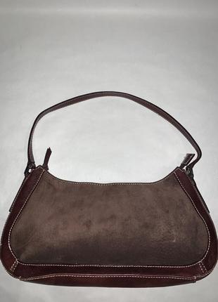 Кожаная фирменная сумочка на / в руку, на плечо marks & spencer.3 фото