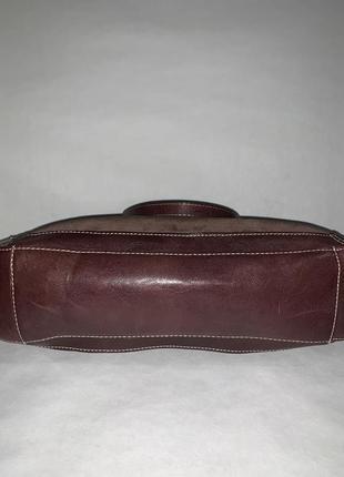 Кожаная фирменная сумочка на / в руку, на плечо marks & spencer.4 фото