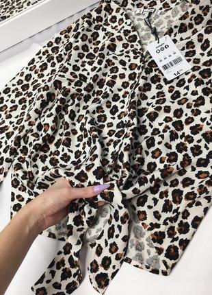 Новая леопардовая рубашка размер м