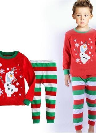 Уютная детская пижама. с новогодней тематикой, унисекс