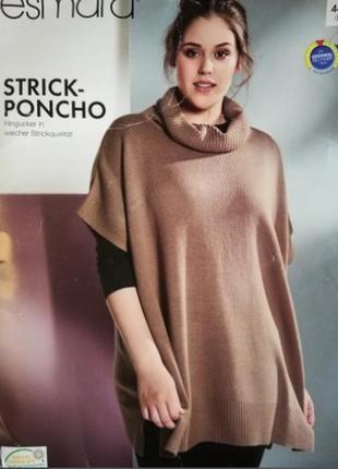 Стильный теплый свитер оверсайз пончо esmara xxl 52-54 наш 58-60