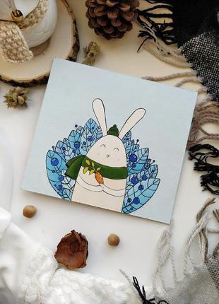 Картина открытка подарочная на новый год акрил