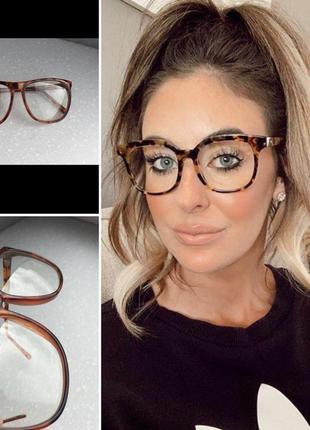 Очки имиджевые с прозрачными стёклами оправой animal h&m
