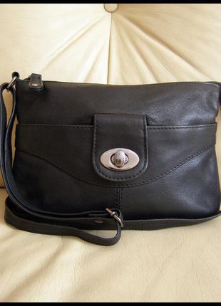 Стильная кожаная сумка кросс боди на плечо – 100% натуральная мясистая кожа