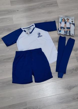 Футбольная форма комплект: футболка + шорты + гетры 110/116, 122/128 и 146/152