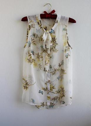 Легенькая шифоновая блуза miss selfridge