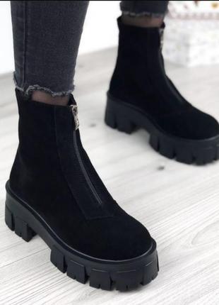 Ботинки замш🌸