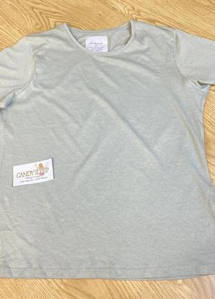 Primark хлопковая футболка светло оливковая