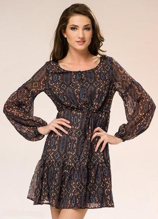 Платье бохо мини incity (44 размер)