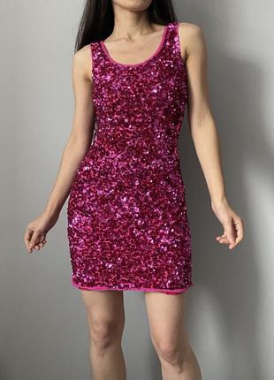 Платье в пайетках на фотосессию или праздник тематический вечер
