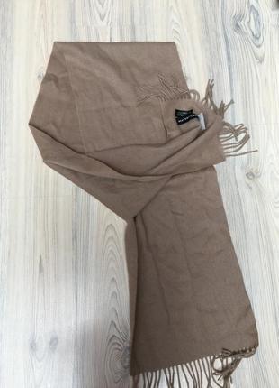 Новый шарф шерсть цвет кэмел