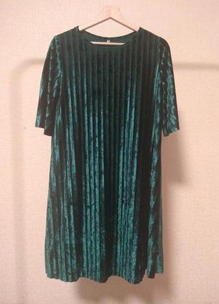 Платье женское велюровое