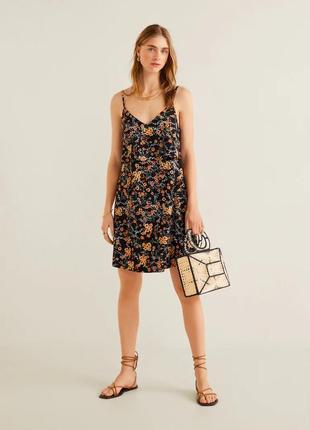 Плаття на бретелях, двошарове плаття, плаття квітковий принт, трендове плаття