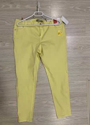 Яркие лимонные джинсы