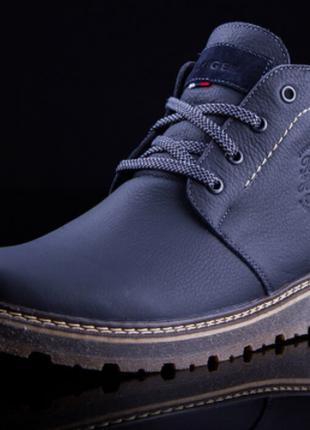 В них будет очень тепло! кожаные мужские зимние туфли ботинки с теплым мехом