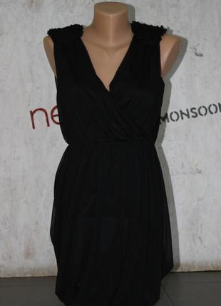 Супер черное платье арт.6