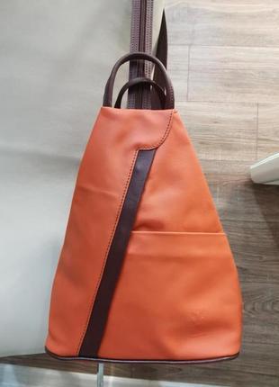 Рюкзак из кожи vera pelle