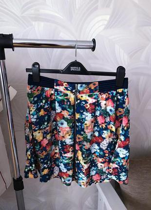 Яркая цветочная юбочка юбка promod asos