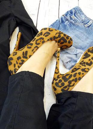 Новые леопардовые туфли stradivarius размер 39