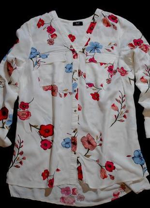 Подписывайтесь на модное и качественное!!! блуза f&f рубашка принт яркий женская l нежная