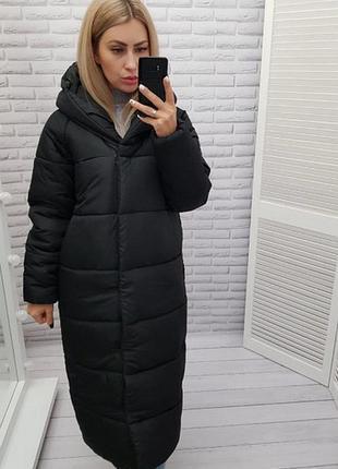 Теплая курточка куртка 42-60 размеры пальто пуховик одеяло оверсайз