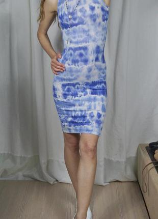 Платье миди небесного цвета
