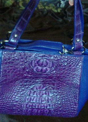 """Новая фирменная кожаная сумка из натуральной 100% кожи крокодила """"toscano"""" тайланд"""