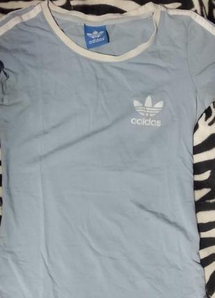 Голубая футболка adidas