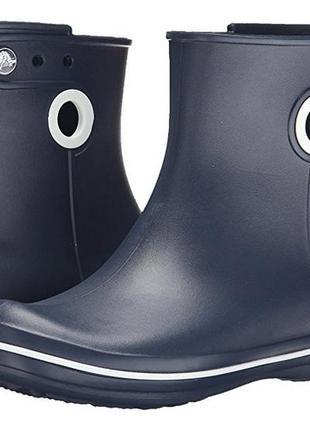 Ботиночки для дождливой погоды crocs jaunt shorty rain boots w9, w10