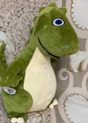 Игрушка подушка плед дракон динозавр