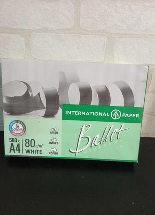 Бумага офисная ballet universal а4 80г/м2 500 листов белая