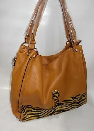 Женская мягкая сумка-мешок со съёмной длинной ручкой жёлтого цвета