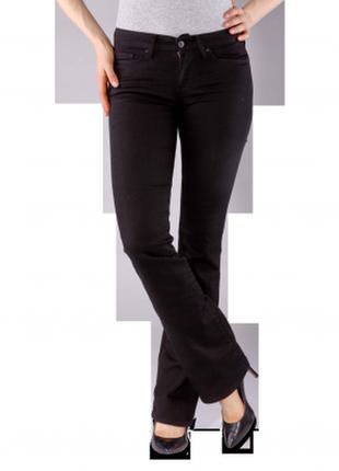 Женские черные джинсы levis premium 715 boot cut 31w/ 30l