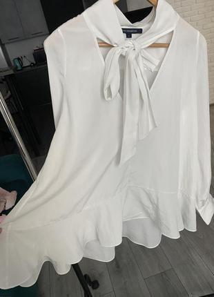 Блуза с воланом и бантом french connection