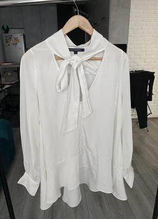 Блуза с воланом и бантом french connection2 фото