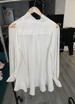 Блуза с воланом и бантом french connection8 фото