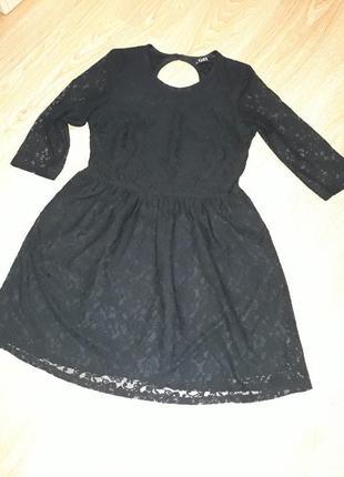 Платье ажурное чёрное george размер м или s