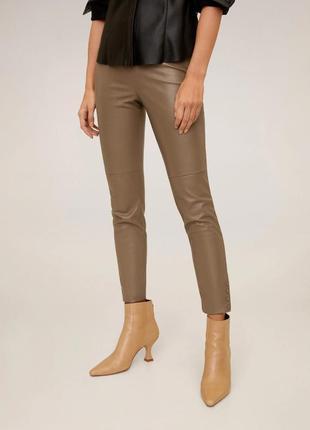 Крутые кожаные брюки mango