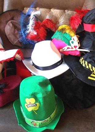 Карнавальные шляпы для рукоделия  набор - цена за 13 штук